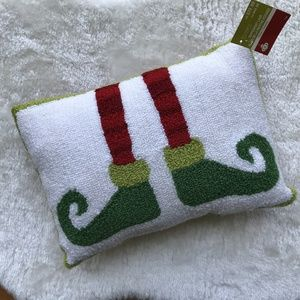 "Christmas Elf Accent Pillow NWT 10.5""x15"""